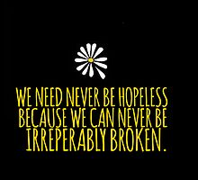 John Green -- Looking For Alaska -- Broken by Alyssa  Clark