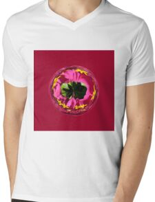 It's a red and yellow flower in the globe Mens V-Neck T-Shirt