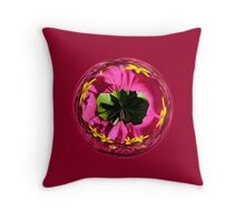 It's a red and yellow flower in the globe Throw Pillow