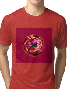 It's a red and yellow flower in the globe Tri-blend T-Shirt