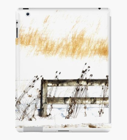 Fence in the Snow iPad Case/Skin