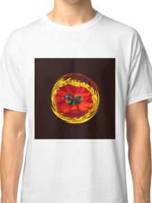 Flower globe in red and yellow Classic T-Shirt