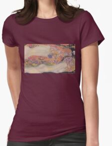Water Snakes II by Klimt  Womens Fitted T-Shirt