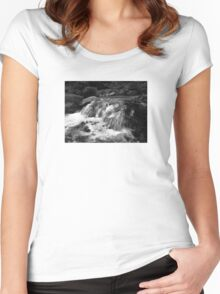 Water in Black and White Women's Fitted Scoop T-Shirt