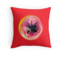 Faux lily in the globe abstract Throw Pillow