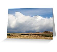Storm on the fairway Greeting Card
