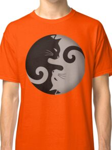 Ying Yang Cats - Black and grey Classic T-Shirt