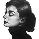 Audrey Hepburn hand drawn by deedeedee123