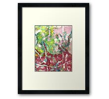 Pink Delight Abstract by Laura L. Leatherwood Framed Print