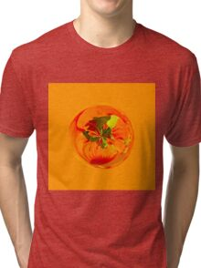 Orange in the globe Tri-blend T-Shirt