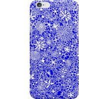 Floral white-blue iPhone Case/Skin
