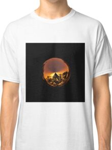 Sunset in the globe Classic T-Shirt