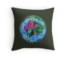 Maid in the mist in the globe Throw Pillow