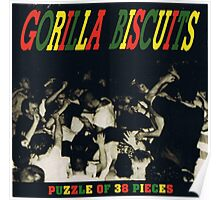 gorilla biscuits puzzle of 38 pieces Poster