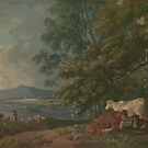George Barret RA, ca. , British Title Morning,  Landscape with Cattle by MotionAge Media
