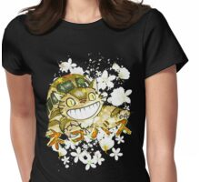 Catbus Womens Fitted T-Shirt