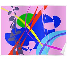 Psychedelic Abstract Pattern Poster