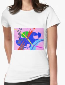 Psychedelic Abstract Pattern Womens Fitted T-Shirt