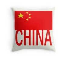 Chinese Flag, CHINA Throw Pillow
