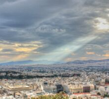 Sunbeams over the City in HDR Sticker
