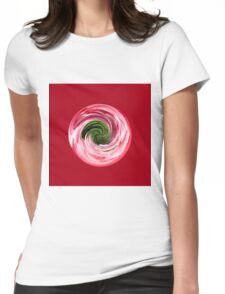 Twirl in the globe Womens Fitted T-Shirt