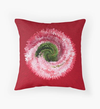 Flower globe abstract Throw Pillow