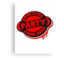 Game Over Party Stempel Canvas Print