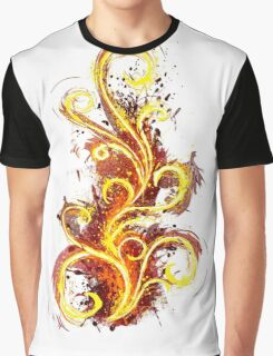 Abstract Flame Graphic T-Shirt