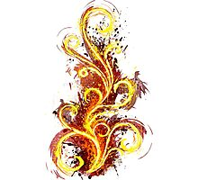 Abstract Flame Photographic Print