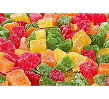 Sweet Candied Fruit closeup Photographic Print