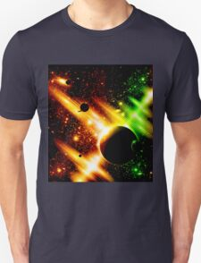 Retro space background Unisex T-Shirt