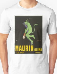 Leonetto Cappiello - Maurin Quina. Man portrait: green devil,  devil, absinthe, beard, alcohol, bottle , boyfriend, smile, manly, sexy men, mustache Unisex T-Shirt