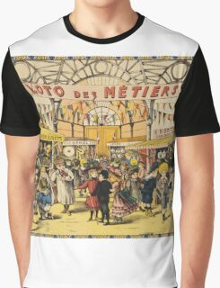Loto Des Metiers - Loto Des Metiers Poster. Сhildren portrait: Сhildren, kids, Fair, shop, child, kids, toy, boys and girls, boy and girl, Shop toys, childhood Graphic T-Shirt