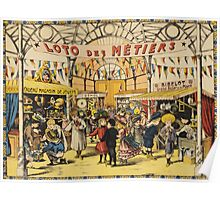 Loto Des Metiers - Loto Des Metiers Poster. Сhildren portrait: Сhildren, kids, Fair, shop, child, kids, toy, boys and girls, boy and girl, Shop toys, childhood Poster