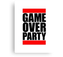 Game Over Party Logo Canvas Print