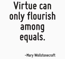 Virtue can only flourish among equals. Kids Tee