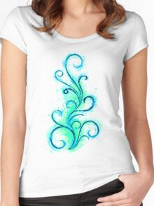 Abstract Flame Women's Fitted Scoop T-Shirt