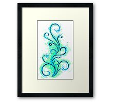 Abstract Flame Framed Print