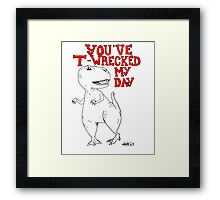Animals Are Mean: T-Rex Framed Print