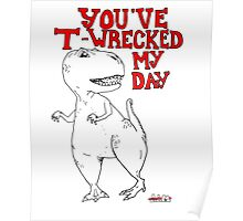 Animals Are Mean: T-Rex Poster