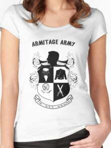 Armitage Army CoA -txt- Women's Fitted Scoop T-Shirt
