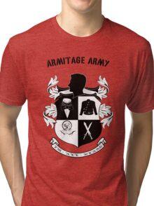 Armitage Army CoA -txt- Tri-blend T-Shirt