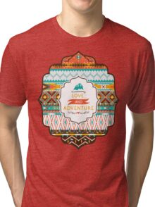 Native american seamless tribal pattern with geometric elements Tri-blend T-Shirt