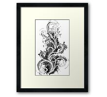 Abstract Flame Sketch Framed Print