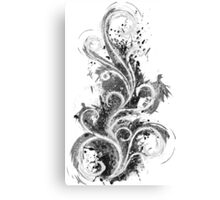 Abstract Flame Sketch Canvas Print