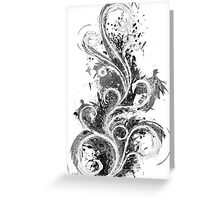 Abstract Flame Sketch Greeting Card