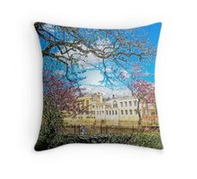 York City Guildhall river Ouse Throw Pillow