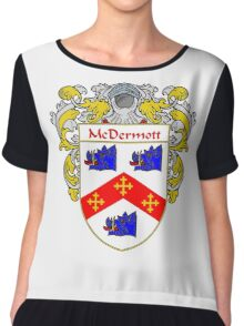 McDermott Coat of Arms/Family Crest Chiffon Top