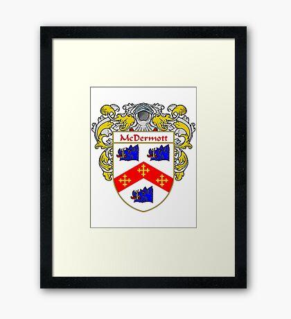 McDermott Coat of Arms/Family Crest Framed Print