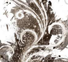 Sepia Abstract Flame Sticker